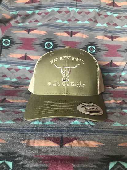 Low Profile Olive Green Hat, Khaki Hard to Tame
