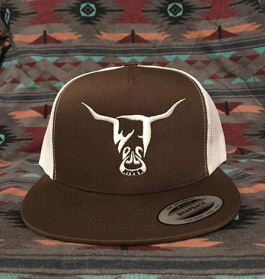 Brown Hat, White West River Bull