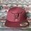 Thumbnail: Full Maroon Hat, Black West River Bull