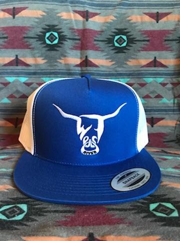 Blue Hat, White West River Bull