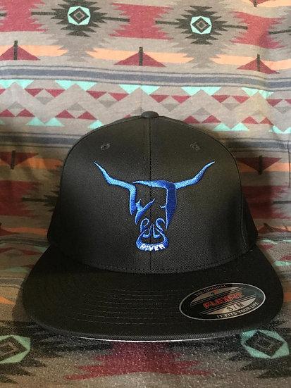 Black Flex Fit Hats (full back)