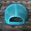 Thumbnail: Grey Low Profile Snapback Hat, Turquoise Mesh Turquoise West River Bull