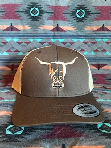 Brown Hat, Beige West River Bull - LOW PROFILE