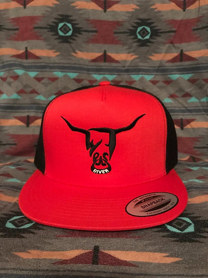 Red and Black Hat, Black West River Bull