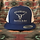 Thumbnail: Royal Blue Snapback Trucker Hat, White Hard To Tame Logo