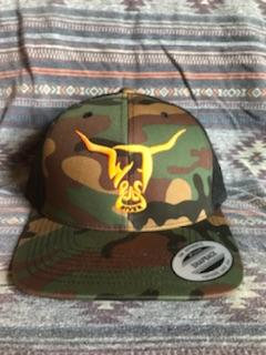 Camo and Black Hat, West River Bull - LOW PROFILE