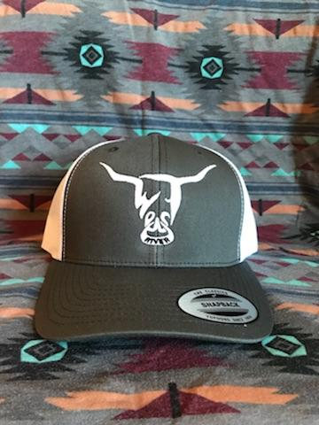 Charcoal Hat, White West River Bull - LOW PROFILE