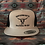 Thumbnail: Grey Snapback Trucker Hat, Black Mesh. Black Hard to Tame Logo