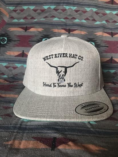 Full Grey Heather Hat, Black Hard to Tame