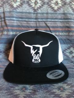 Black and White Hat, White West River Bull