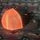 Thumbnail: Grey Low Profile Snapback Hat, Orange Mesh, Orange West River Bull