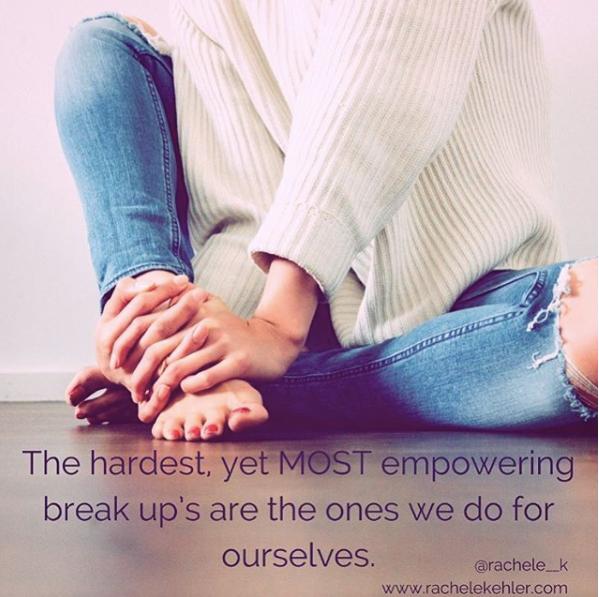 Empowering breakups
