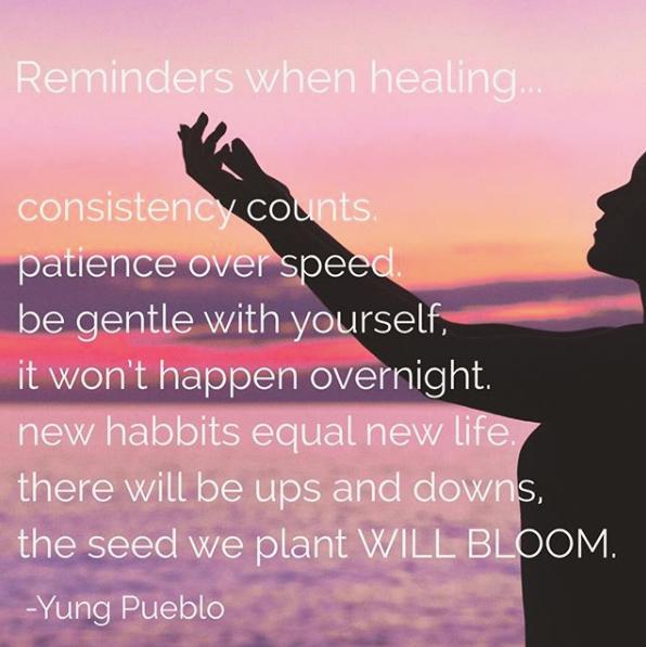 Reminders when healing