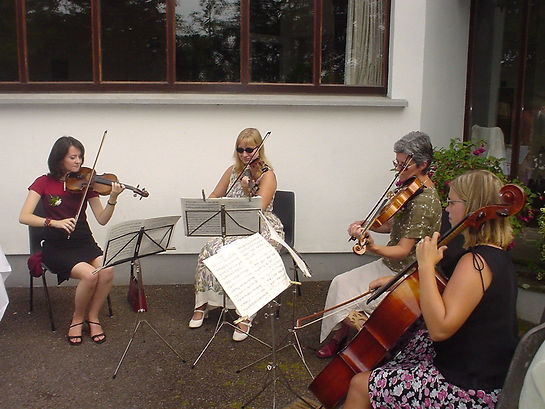 quartet string trio music wedding waterford quaker meeting house ireland suirstrings party