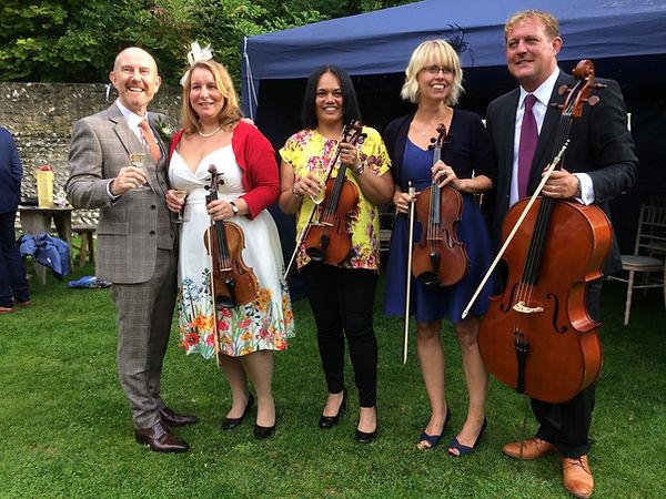 groom amazed by quartet wedding music Waterford Ireland