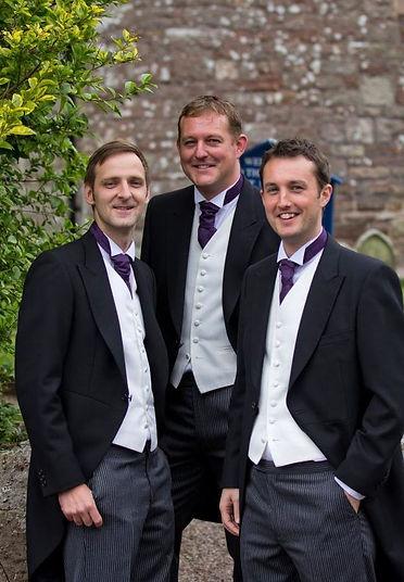 happy groom groomsmen wedding service music suirstrings.ie Ireland Waterford