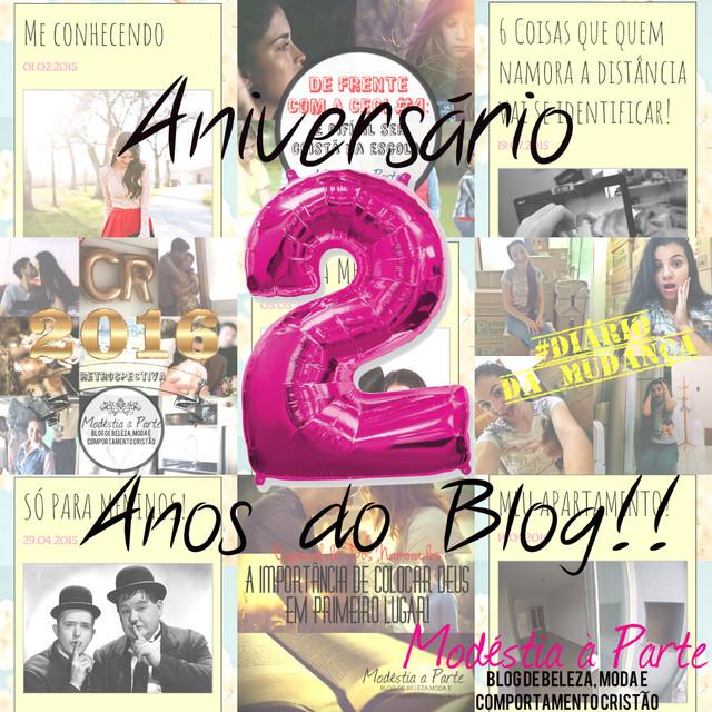 Aniversário de 2 anos do blog!!