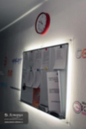Информационная доска с подсветкой