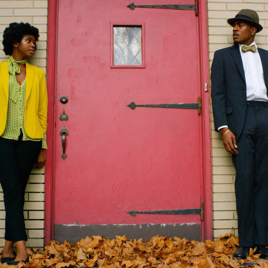 Tyrik Ballard as Hal and Sharaé Moultrie as Kat at the red door