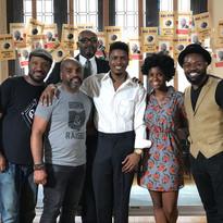 Creator/Composer Steve Wallace, Director Myron Davis, Tyrik Ballard (Hal), Sharaé Moultrie (Kat), Dion Davis (Scroop), and (back) Tony McClendon (Leroy French)