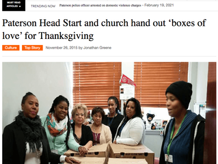 """Paterson Head Start and Church Hand Out """"Boxes of Love"""" for Thanksgiving"""