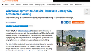 WinnDevelopment to Acquire, Renovate Jersey City Affordable Housing