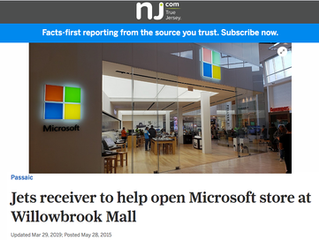 Jets Receiver to Help Open Microsoft Store at Willowbrook Mall