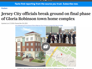 Jersey City Officials Break Ground on Final Phase of Gloria Robinson Town Home Complex