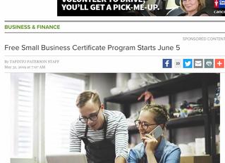 Free Small Business Certificate Program Starts June 5