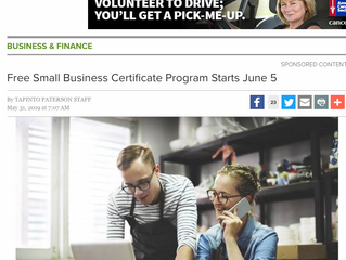 Free Small Business Certificate Program Starts June 5