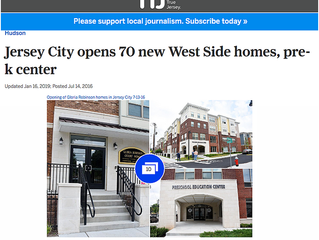 Jersey City Opens 70 New West Side Homes, Pre-K Center