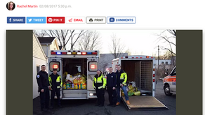 Norwood EMS Partners with Community to Collect Supplies for Local Families