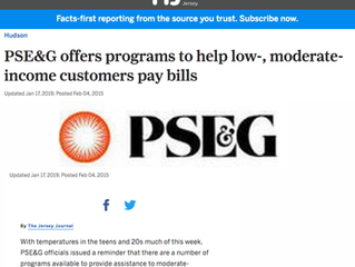 PSE&G Offers Programs to Help Low, Moderate-Income Customers Pay Bill