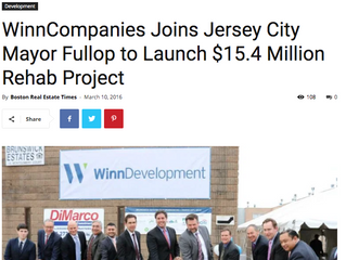 WinnCompanies Joins Jersey City Mayor Fullop to Launch $15.4 Million Rehab Project