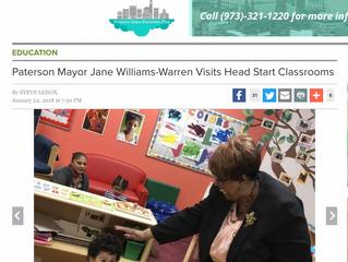 Paterson Mayor Jane Williams-Warren Visits Head Start Classrooms