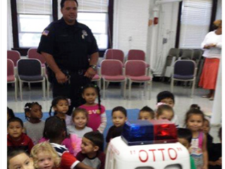 Paterson Police Officers Teach Pedestrian and Traffic Safety to 3-4 Year Olds
