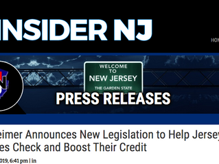 Gottheimer Announces New Legislation to Help Jersey City Families Check and Boost Their Credit