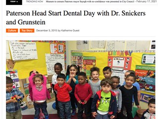 Paterson Head Start Dental Day with Dr. Snickers and Grunstein