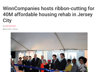 WinnCompanies Hosts Ribbon-cutting for Affordable Housing Rehab in Jersey City