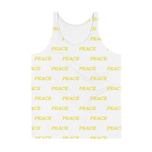 White PEACE monogram Unisex Tank Top