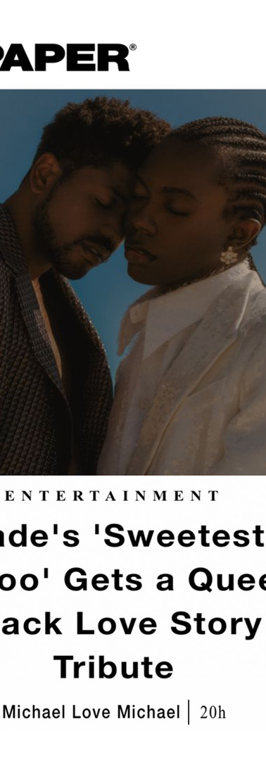 Paper Magazine. Sade Tribute Video. Nov 2019