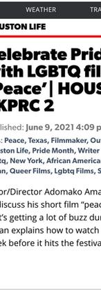 PEACE Featured on Houston Life - NBC Universal