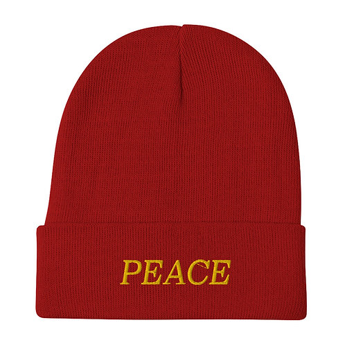 PEACE Embroidered Beanie