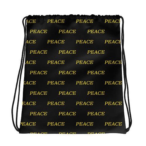 PEACE monogram Drawstring bag