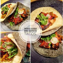 Smoked Salmon and Sofrito Taco