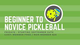 Beginner to Novice Pickleball