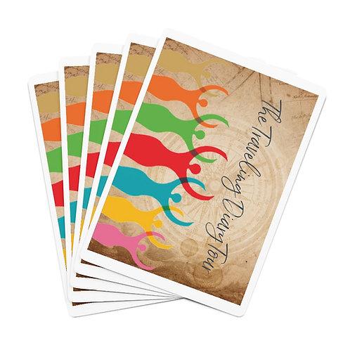 The Traveling Diary  Custom Poker Cards