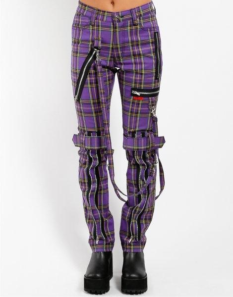 Tripp NYC- Purple Plaid Bondage Pants