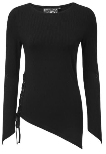 Killstar - Asymmetrical Long Sleeve Top