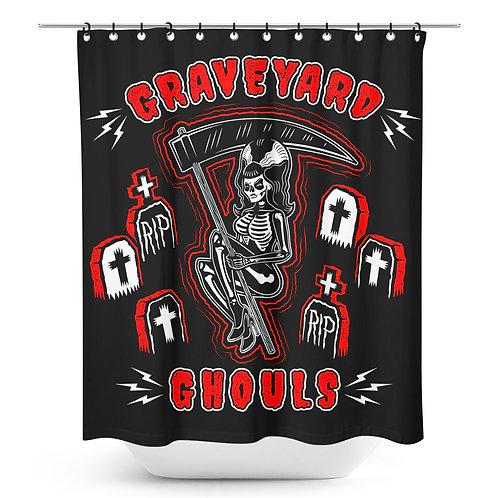 Sourpuss-Graveyard Shower Curtin